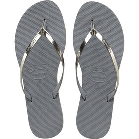 havaianas You Metallic Flips Women steel grey